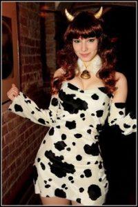 cow, costume, sexy, dress, bell, horns